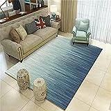 Camas Modernas Azul Alfombra de Sala de Estar Azul patrón de...