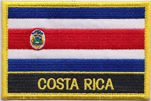 Costa Rica Drapeau Brodé Rectangulaire Patch Badge / à Coudre ou à Repasser - Design Exclusif à partir de 1000 Flags
