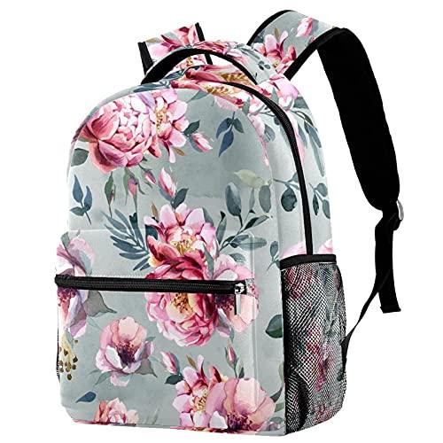 delayer Mochila de viaje unisex Rosas retro Mochila para portátil al aire libre de moda mochilas para niños y niñas