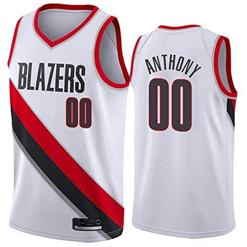 xisnhis nba jerseys,Heren Vrouwen Jersey - Portland Trail Blazers 00# ANTHONY Jerseys Ademend Geborduurd Basketbal Swingman Jersey, (SIZE:S-XXL)