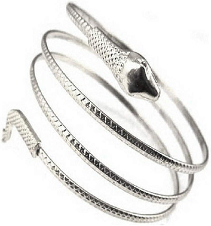 PULABO Bracelets, Women's Punk Coiled Snake Spiral Cuff Bangle Upper Arm Bracelet Jewelry Gift Popular