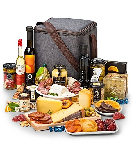 GiftTree Gourmet Imperial Cured Meat and Cheese Food Gift Basket | Charcuterie, Artisan Cheese, Chocolate, Fruit, Olives, Almonds, Olive Oil | Perfect Gift for Wedding, Clients and Holidays