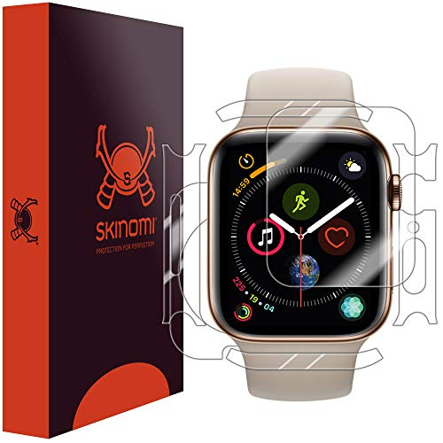 Skinomi TechSkin, pellicola protettiva Apple Watch Series 4-44 mm.Fronte/Retro, idrorepellente