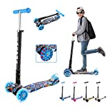 Caroma Kick Scooter for Kids,3 Adjustable Height,3 PU LED Light Up...