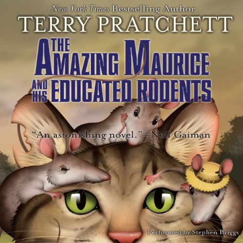 The Amazing Maurice and His Educated Rodents audiobook cover art