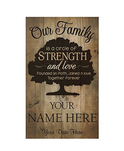 P. Graham Dunn Our Family Tree Founded in Faith 14 x 24 Pallet Wood Style Customized Wall Plaque