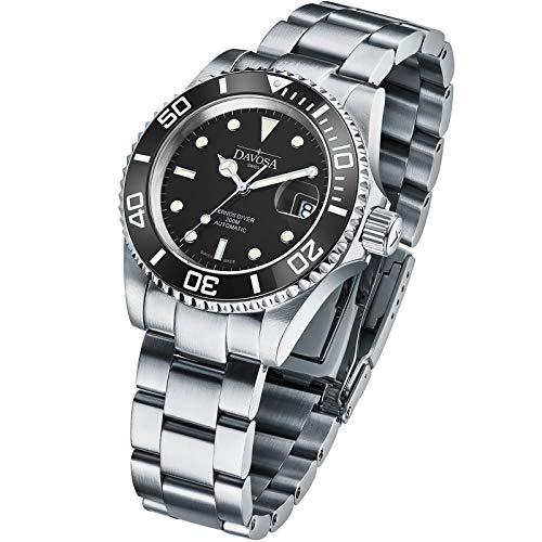 Davosa 16145550 - Reloj analógico de caballero automático con correa de acero inoxidable plateada