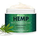 NUTRILUSH Hemp Pain Relief Cream - Quick Relieve Sprains, Muscle, Back, Joint and Arthritis Pain -...