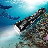 Bluefire 1200 Lumen CREE XM-L2 Linterna de Buceo, Profesional Linterna Submarina Impermeable de Seguridad para Exteriores Deportes (Negro)