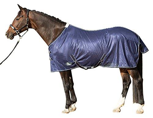 Harry 's Horse 32205024–115cm–Manta antimoscas Malla, Estándar con Correas, S, Marina