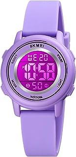 eYotto Kids Digital Sports Watch for Girls Boys, Multi Function 50M Waterproof LED Alarm Stopwatch 7 Colors Backlight Sili...