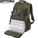 Spro Double Camouflage Back Pack - Angelrucksack für Raubfischangler, Rucksack für Gummifische & Wobbler, Kunstködertasche