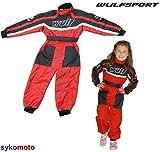 Kart Suit Wulfsport - Tuta da motocross, mountain bike, 1 pezzo, colore: rosso