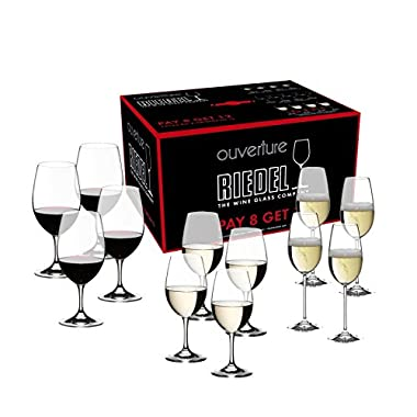 Riedel Ouverture Wine Glass, Set of 12, Red & White & Champagne