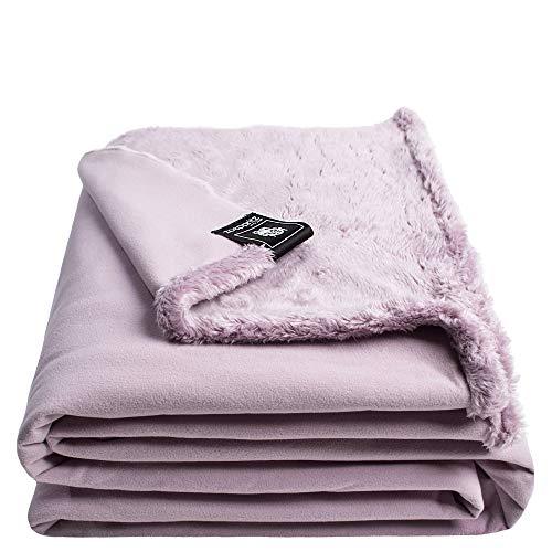 Reborn Bliss-Decke – Kunstfell Kuscheldecke – flauschige und luxuriöse Fellimitat-Decke mit glatter Rückseite - 140x190 cm – 310 rose – von 'zoeppritz since 1828'