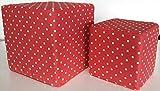 Sitzwürfel rot mit weißen Punkten (40 x 40 x 40 cm)