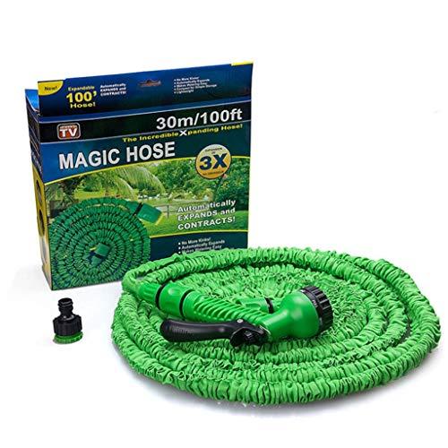 HUADA Tuinslang Flexibele 3 Times Expandable Waterslang Pipe Met 7Function Spray Groen en 1/2