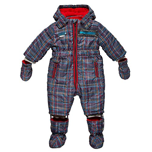 CHICCO British Club Thermore-Schneeoverall Gr. 80 (15 Monate) Winter Schneeanzug mit Thermore-Funktionswattierung (15-18 Monate)