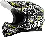 0623-092 - Oneal 3 Series Attack Youth Motocross Helmet S Black Hi-Viz