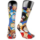 AsakawaKoutarou One Piece Luffy Splatter Moda Unisex Estampado Algodón Transpirable Deporte Casual Socks Calcetines Long Calcetines Thick Calcetines christmas gifts