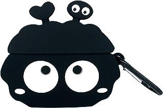 AirPods Pro用ケース かわいい airpodspro用カバー GUAN シリコン素材 落下防止/耐衝撃/防塵/防水/紛失防止(フック付き ) 可愛い 萌え ワイヤレス充電対応 エアーポッズプロケース おしゃれ- 練炭