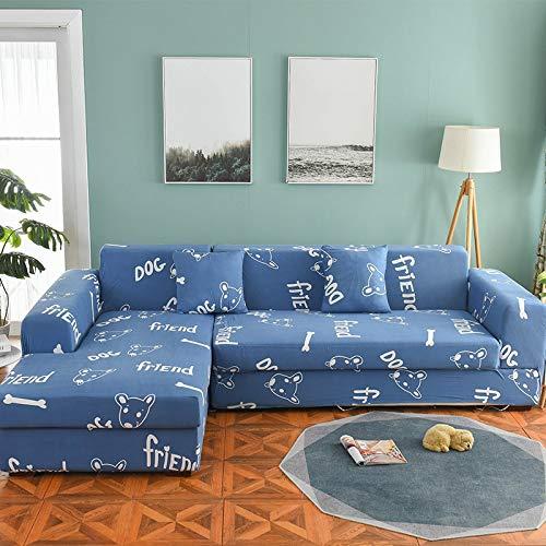 WXQY Funda de sofá nórdica, Funda de sofá de algodón, Funda de sofá Flexible para Sala de Estar, Adecuada para sofá Chaise Longue en Forma de L A16 de 4 plazas