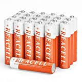 REACELL Solar AAA NiMH Rechargeable Batteries 24 Packs, AAA Batteries for Solar Garden Lights 700mAh 1.2V AAA Battery for Outdoor Pathway Solar Lamp
