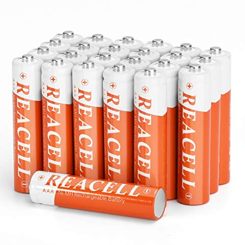 REACELL Solar AAA NiMH Rechargeable Batteries Pack for Solar Garden Lights Replacement 700mAh 1.2V Longer Lasting Power for Outdoor Pathway Solar Lamp(Pack of 24)