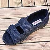 Nwarmsouth Zapatillas para rehabilitación,Zapatos Sueltos Ajustables, pies deformados Zapatos de Tela de Gran tamaño-35_Black,Zapatos de Terapia de Artritis Edema