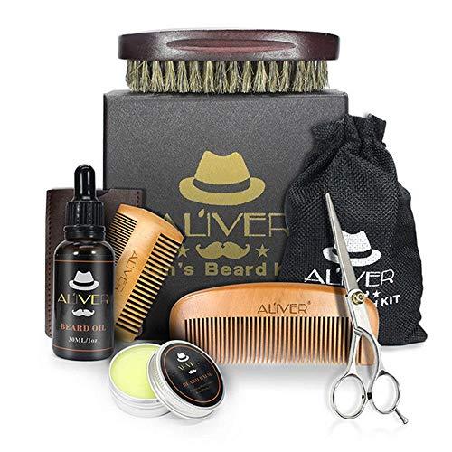8. Kit de cuidado para barba: Leegoal Al´iver | Equipada con doble peine de madera.
