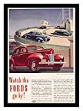 8 x 10 Photo Print Ford_Watch_The_Fords_Go_by_1940 Vintage Old Advertising Campaign Ads