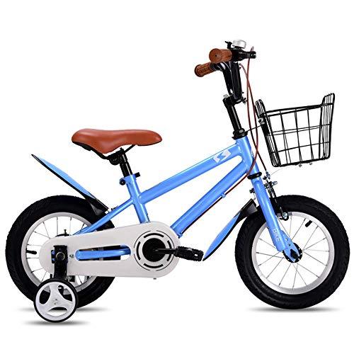 """YUMEIGE Kinderfahrräder Freestyle Jungen Mädchen Kinder Kinderfahrrad Kinderfahrrad 4 Farben, 12 """", 14"""", 16 """", 18"""" mit Stützrad , Einstellbare Lenkersitzhöhe (Color : Light Blue, Size : 18in)"""
