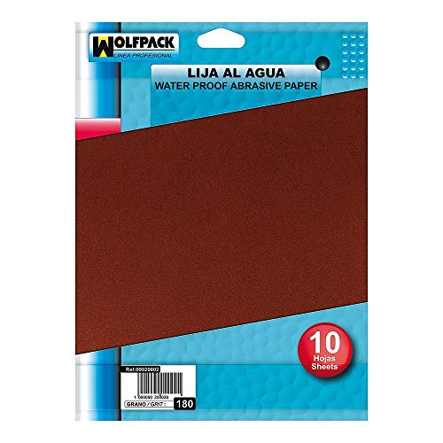 Wolfpack 9020003 Lija Agua Grano 220 (Pack 3 Pliegos)