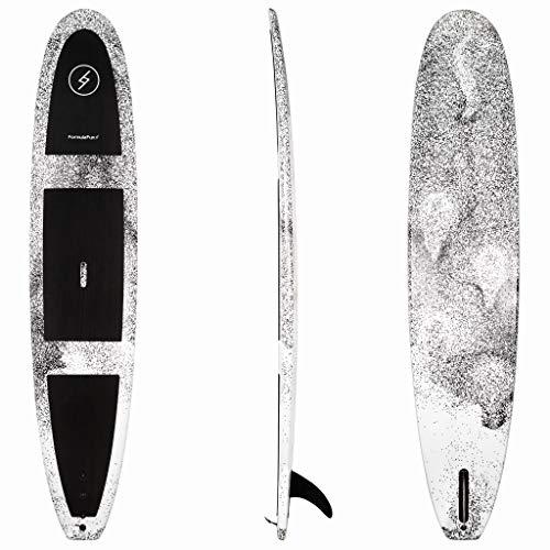 Formula Fun 9'6'' San-O Foamie Surfboard, Foam Surfboard with No Wax or Resin Required, Durable, Waterproof, and Flexible Foam Board, Made in The USA