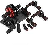 TOMSHOO Bauchroller AB Roller Bauchtrainer Fitnessset für Bauchtraining zu Hause und in Fitnesstudios mit Kniematte Bauchmuskeltraining und Muskelaufbau für Anfänger und FortgeschritTene