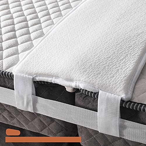BEDIA 12 Inch Bed Bridge Twin to King Converter Kit | Mattress Connector Kit with Strap | Non-Slip Design
