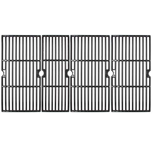 Hongso 18 3/16' Porcelain Cast Iron Grill Grates for CharBroil 463276617, Enamel Grill Grids Replacement Parts for Charbroil, 4 Packs, PCZ064