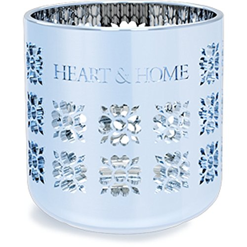Heart & Home Photophore métallique Bleu 200 g