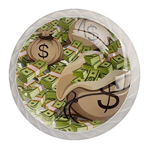 Tiradores de cajón para decoración de armario de cocina de oficina en casa,Bolsas Paquetes de embalaje de dinero
