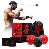 Guri Boxing Reflex Ball/Pelotas de Reflejo-Kit de Boxeo con 3 Pelotas de Reacción, Vendas y Bolsa Impermeable-Ideal para Velocidad De Reacción, Coordinación Mano Ojo, Precisión y Enfoque