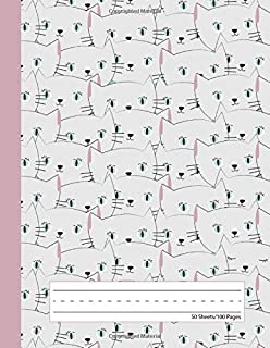 Kitty Cat - Primary Story Journal: Dotted Midline and Picture Space | Grades K-2 Composition School Exercise Book | 100 Story Pages (Kitten Notebooks For Girls)