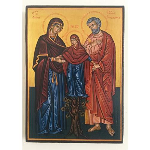 Artastate Icono de la Sagrada Familia de Madera, Iconografia Cristiana Ortodoxa
