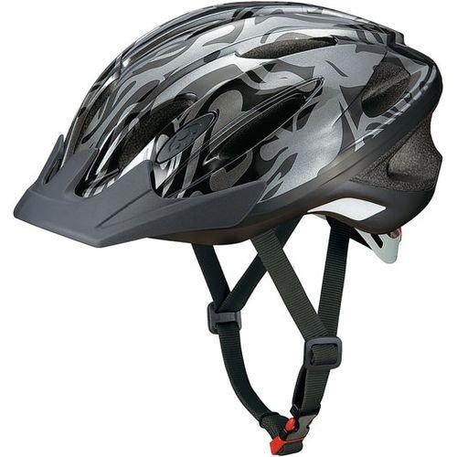 オージーケーカブト(OGK KABUTO) 自転車 ヘルメット 子ども用 WR-J セルバブラック 児童用 (頭囲 56cm~58cm)
