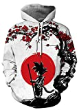 AMOMA Unisex Realistic Anime Hoodie Dragon Ball Naruto Bleach 3D Print Pullover Hooded
