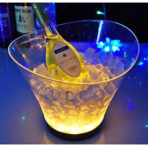 6L LED Weinkühler Sektkühler Flaschenkühler Eiseimer Eiswürfel,Gold