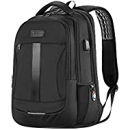LARGE SPACE & ORGANIZER: 12.4 x 7.5 x 18.9 inch (L*W*H); Capacity: 30L. 1 PADDED LAPTOP COMPARTMENT holds up to a 15.6-inch Laptop and iPad. A SPACIOUS MAIN COMPARTMENT with room for books, binders, folders, clothes, lunch box, and other daily necess...
