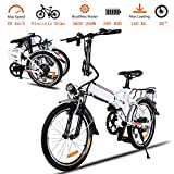 20 Inch Folding Electric Bike, Electric Bicycle...