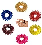 Acupressure Sujok Pain Therapy Finger Massager Circulation Rings (Set of 10) Enormous Benefits