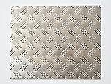 bestell-dein-Blech Metall Aluminium Riffelblech duett 2,5/4,0 mm stark - Tränenblech/Warzenblech Zuschnitt aus Alu Blech geriffelt walzblank natur Zuschnitt nach Maß Größe: 40 x 40 cm...