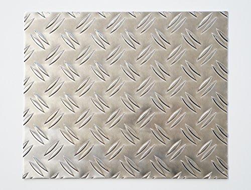 bestell-dein-Blech Metall Aluminium Riffelblech duett 2,5/4,0 mm stark - Tränenblech/Warzenblech Zuschnitt aus Alu Blech geriffelt walzblank natur Zuschnitt nach Maß Größe: 40 x 40 cm (400 x 400 mm)